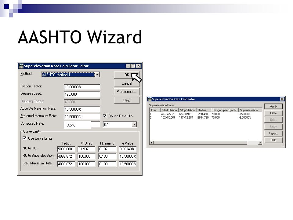 AASHTO Wizard 3.5%
