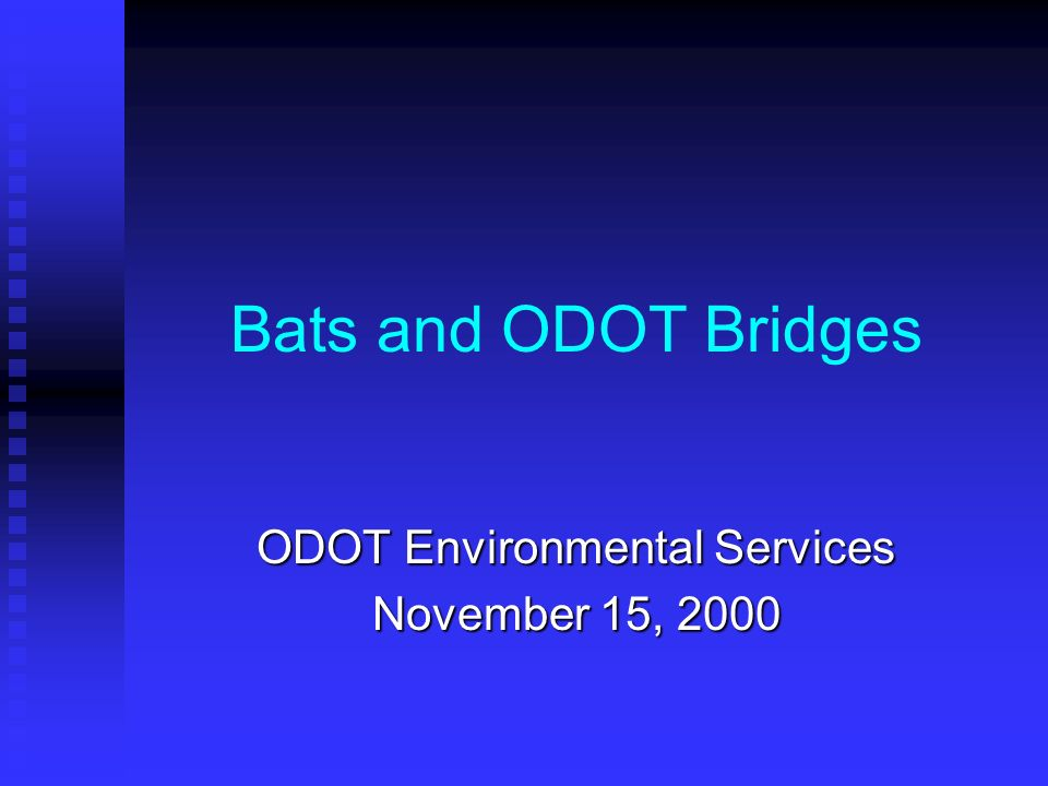 ODOT Environmental Services November 15, 2000