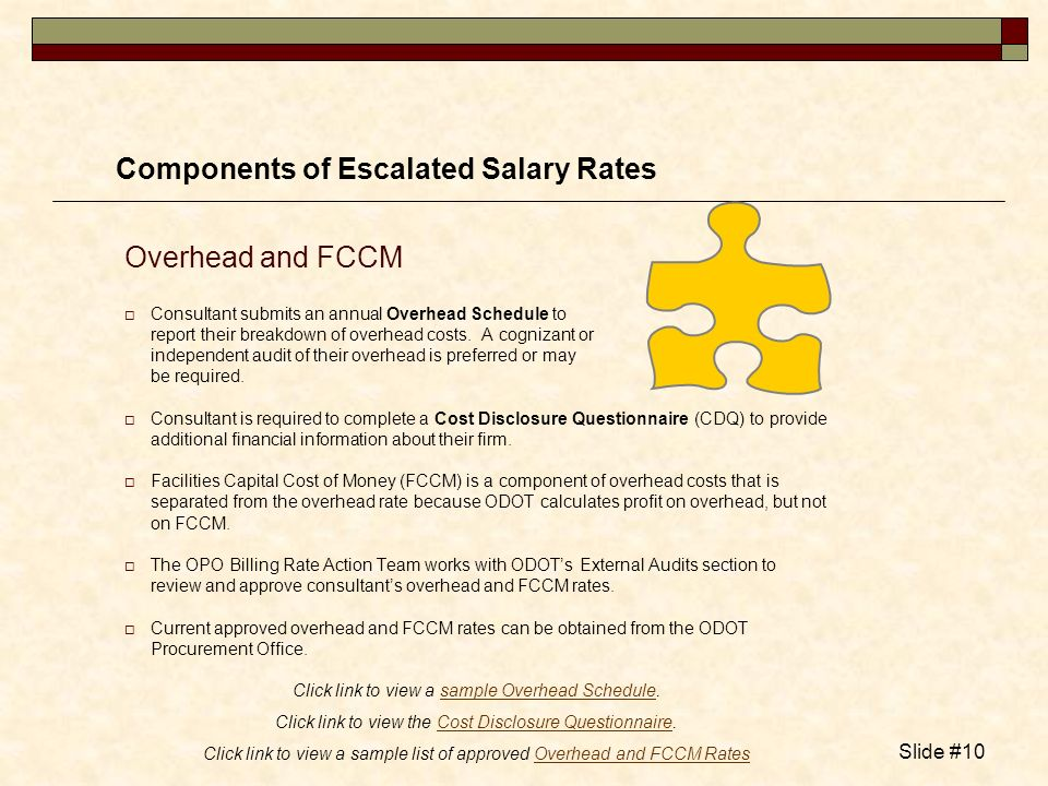 Components of Escalated Salary Rates