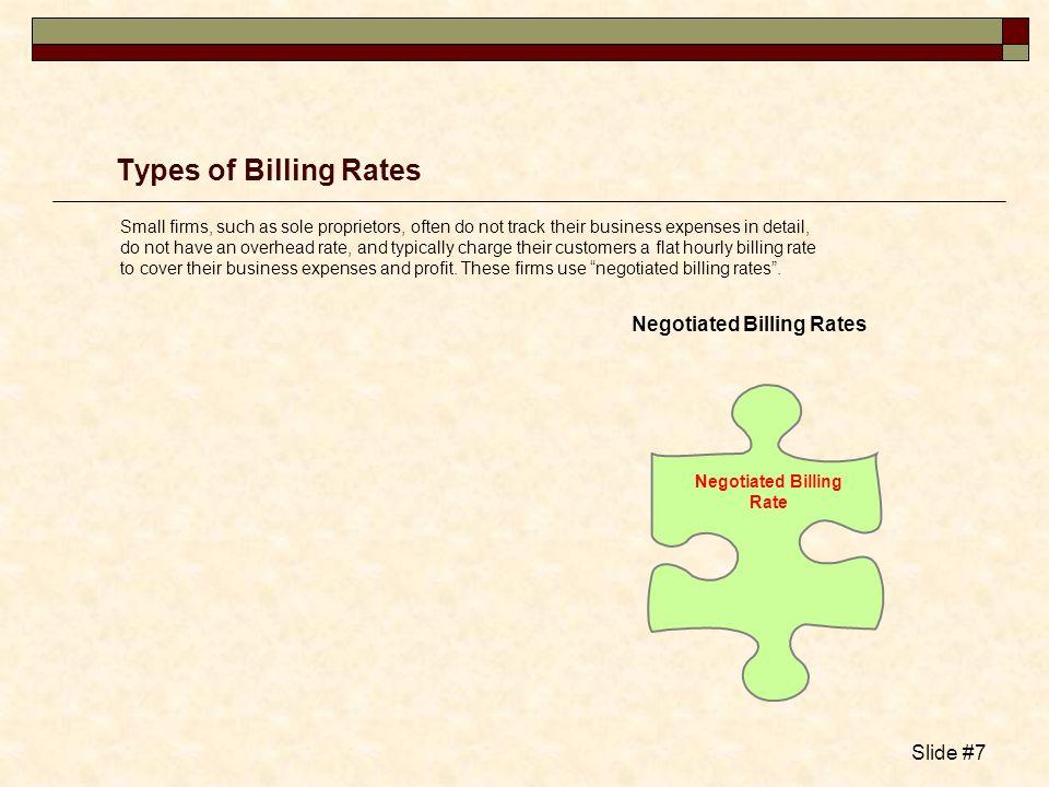 Negotiated Billing Rate