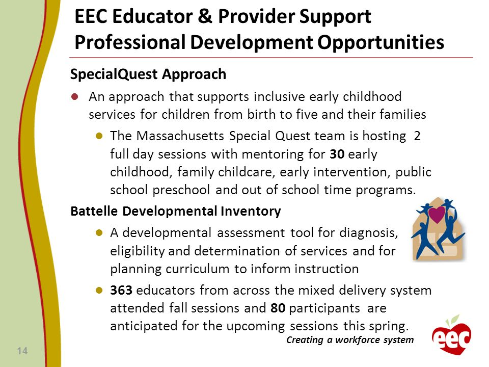 EEC Educator & Provider Support Professional Development Opportunities