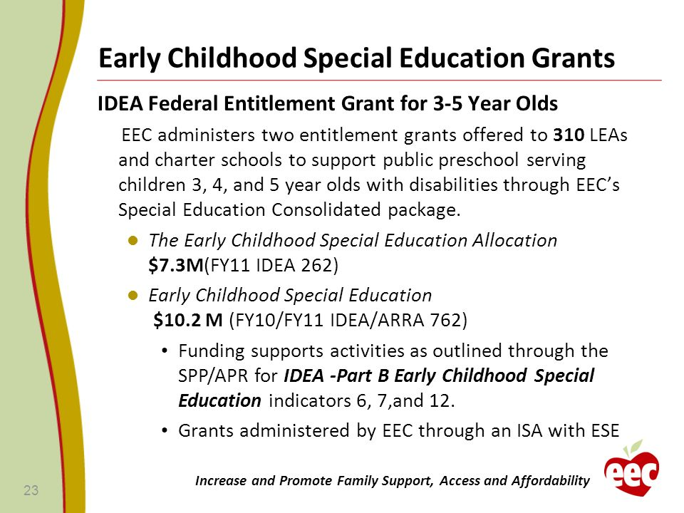 Early Childhood Special Education Grants