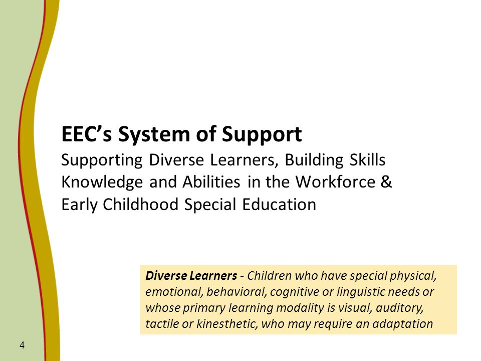 EEC Early Childhood Special Education Preschool