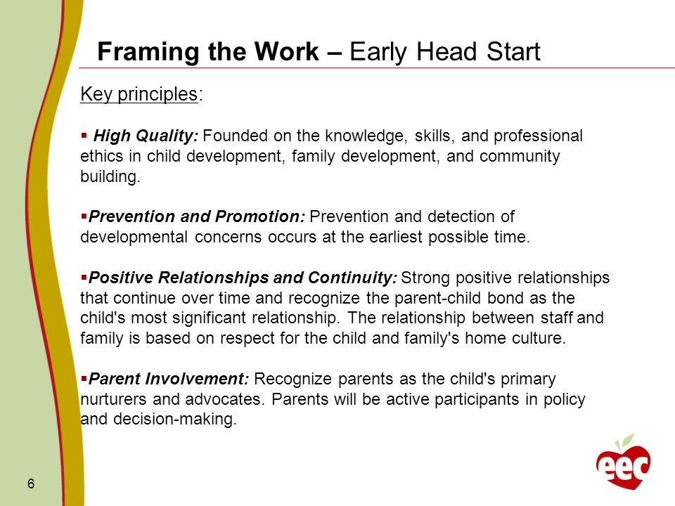 Framing the Work – Early Head Start
