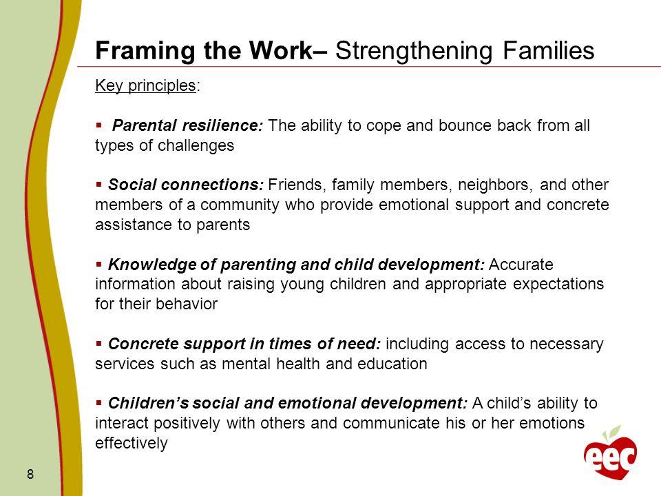 Framing the Work– Strengthening Families