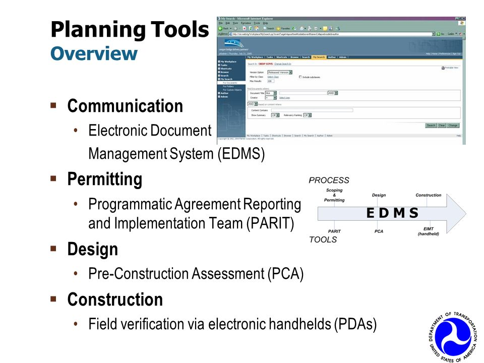 Planning Tools Overview