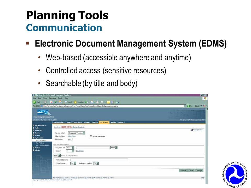 Planning Tools Communication