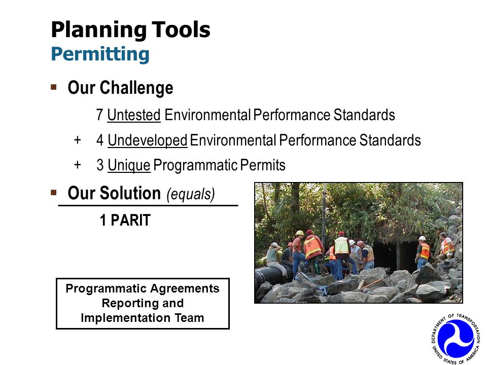 Planning Tools Permitting