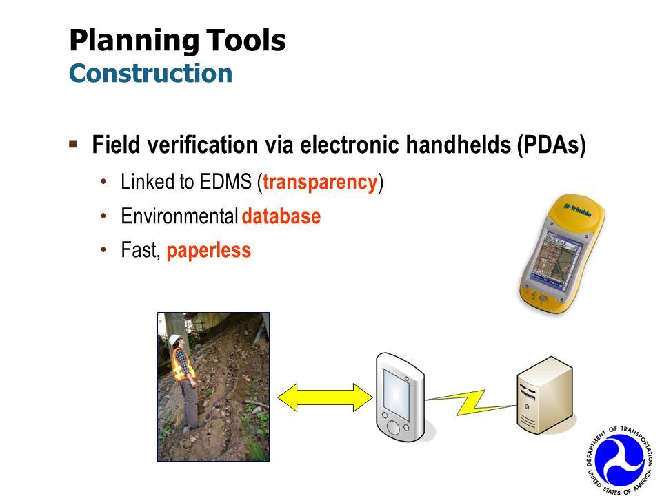 Planning Tools Construction