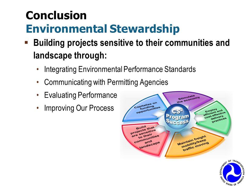 Conclusion Environmental Stewardship
