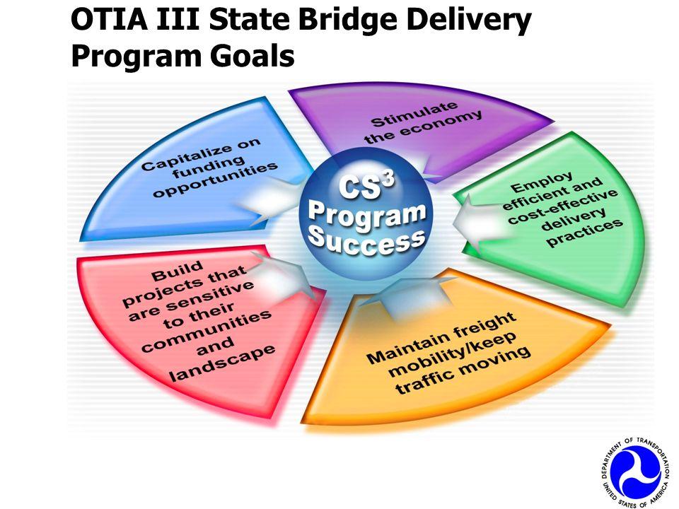 OTIA III State Bridge Delivery Program Goals