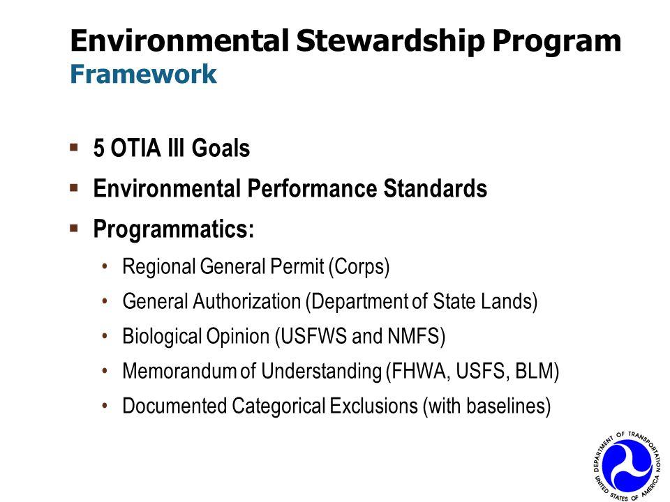 Environmental Stewardship Program Framework