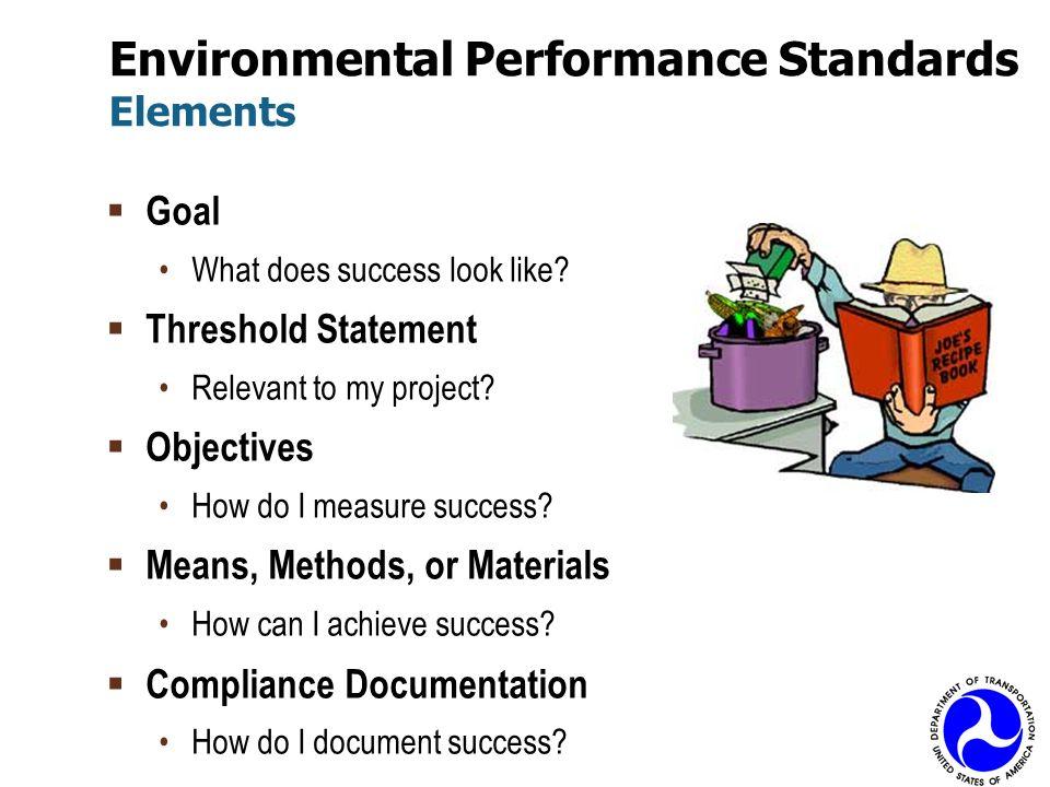Environmental Performance Standards Elements