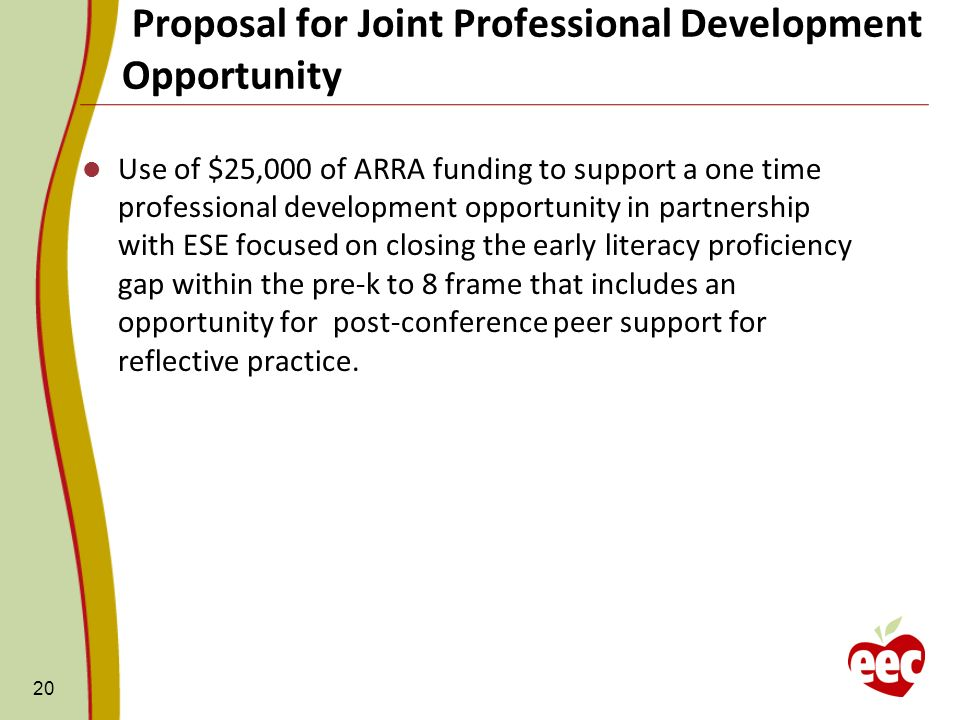 Proposal for Joint Professional Development Opportunity