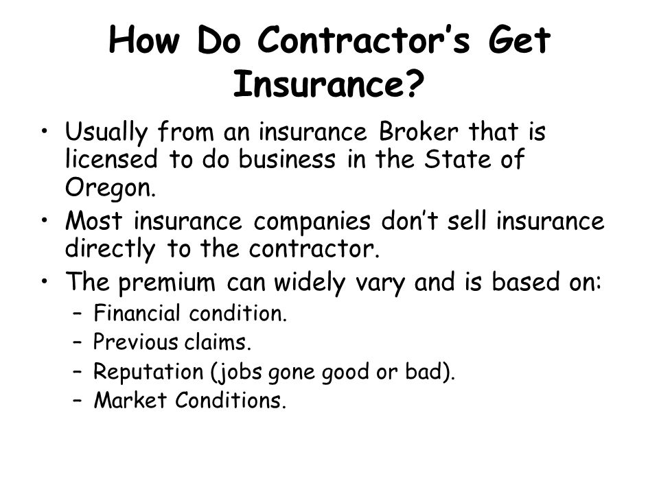 How Do Contractor's Get Insurance