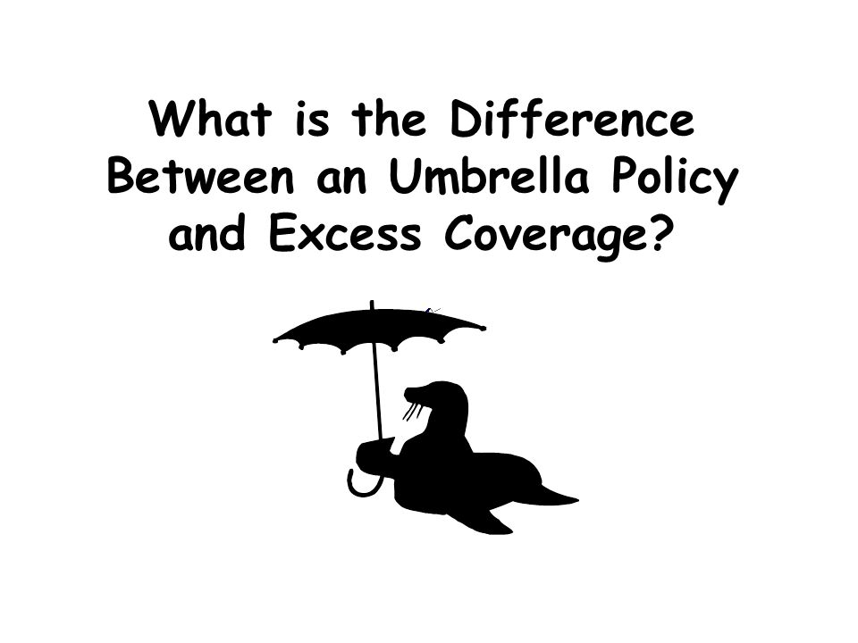 What is the Difference Between an Umbrella Policy and Excess Coverage