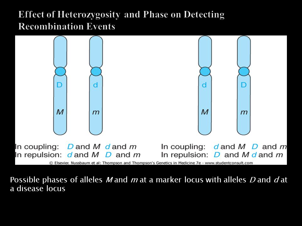 Effect of Heterozygosity and Phase on Detecting Recombination Events