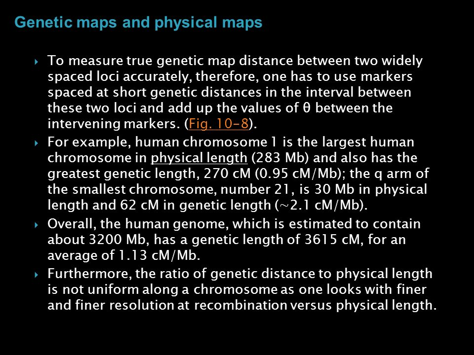 Genetic maps and physical maps