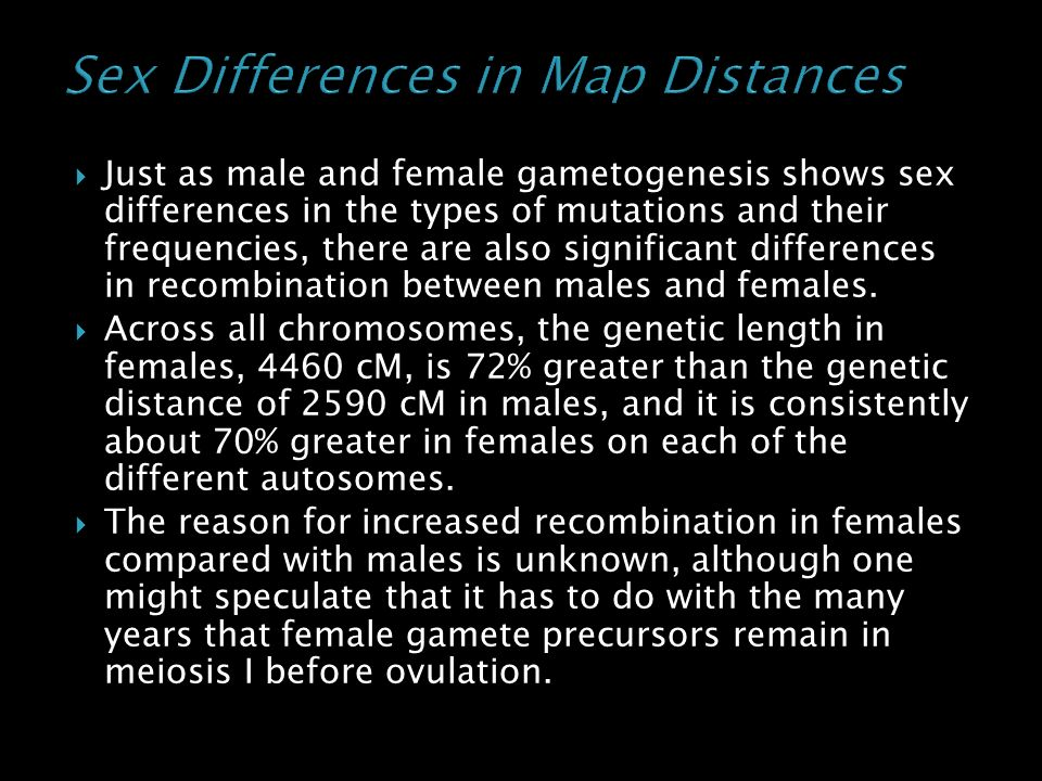 Sex Differences in Map Distances