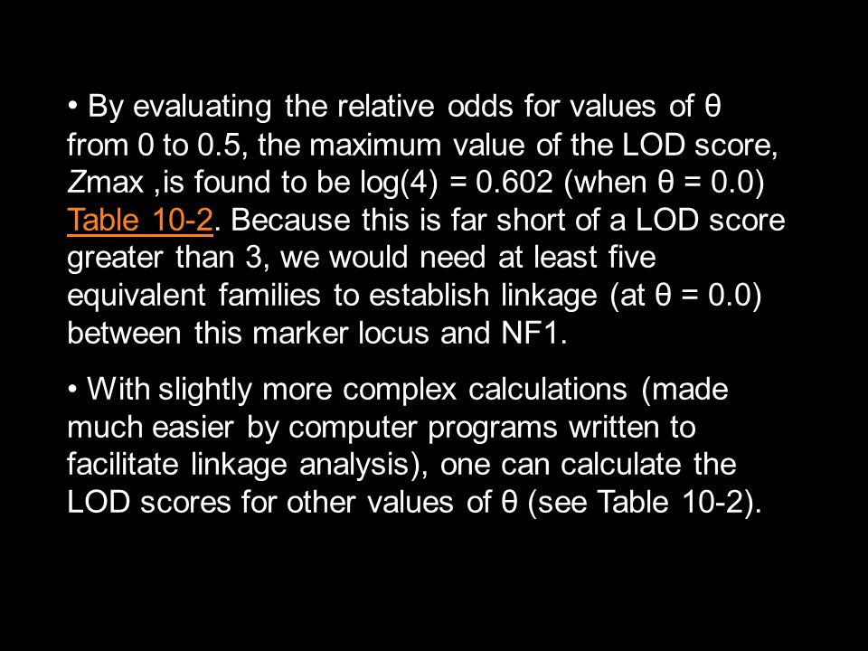 By evaluating the relative odds for values of θ from 0 to 0
