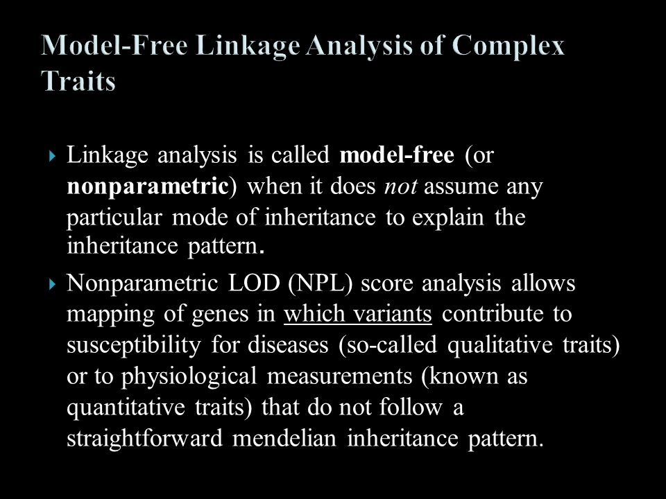Model-Free Linkage Analysis of Complex Traits