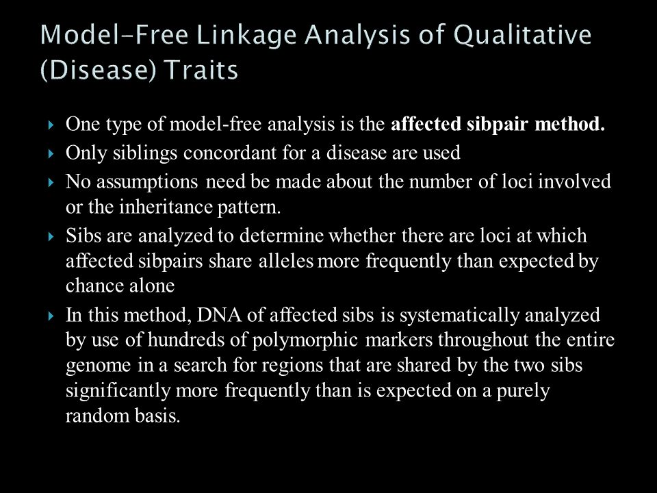 Model-Free Linkage Analysis of Qualitative (Disease) Traits