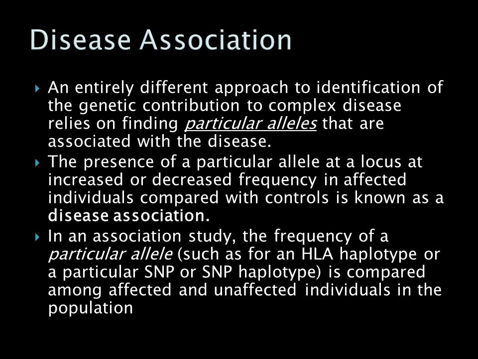 Disease Association