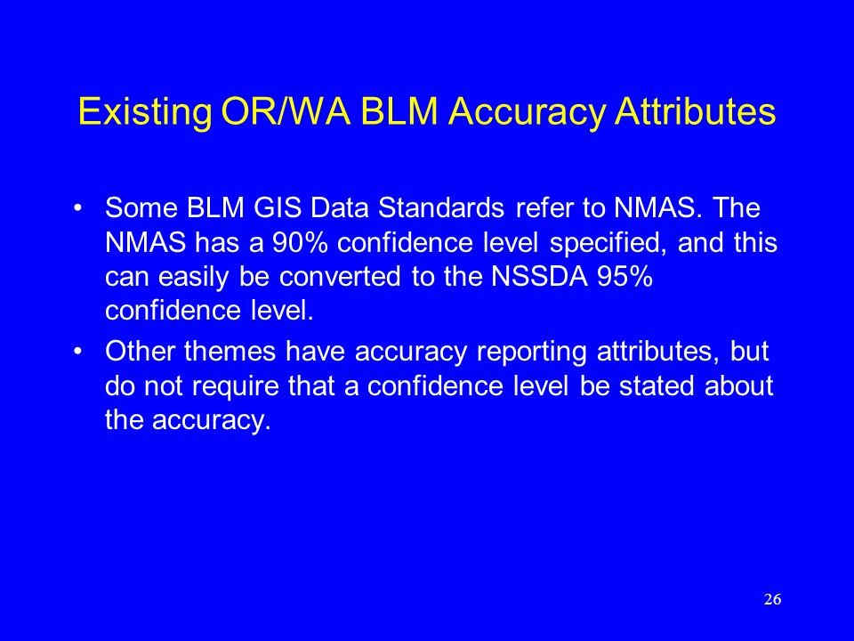 Existing OR/WA BLM Accuracy Attributes
