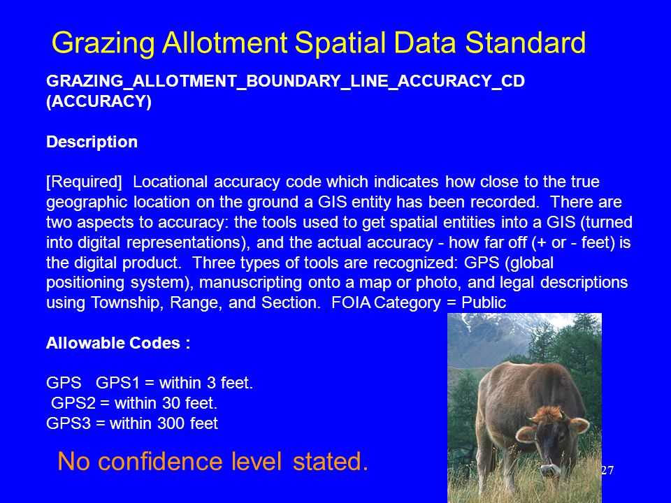 Grazing Allotment Spatial Data Standard