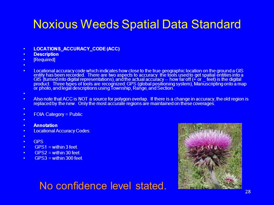 Noxious Weeds Spatial Data Standard
