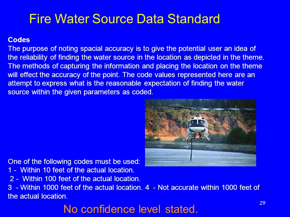 Fire Water Source Data Standard
