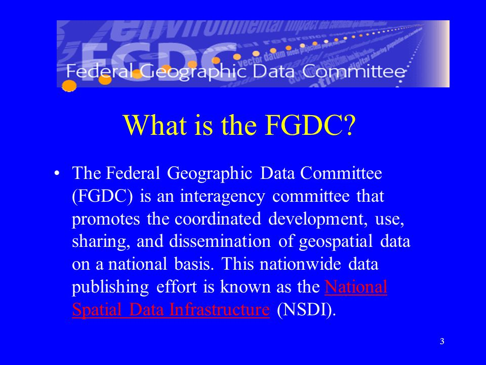 What is the FGDC