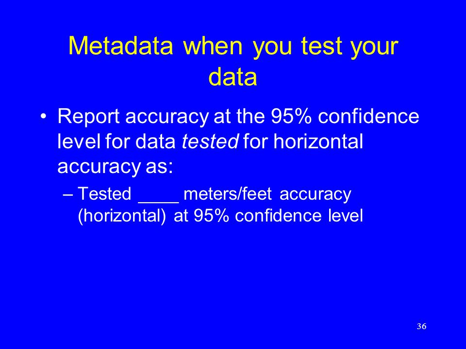 Metadata when you test your data