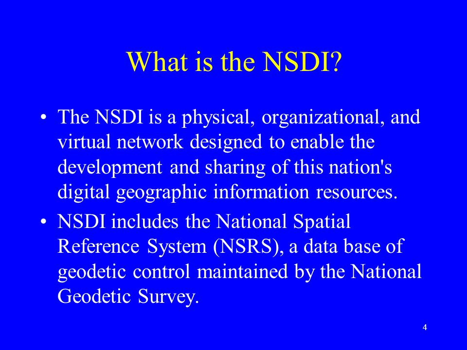 What is the NSDI