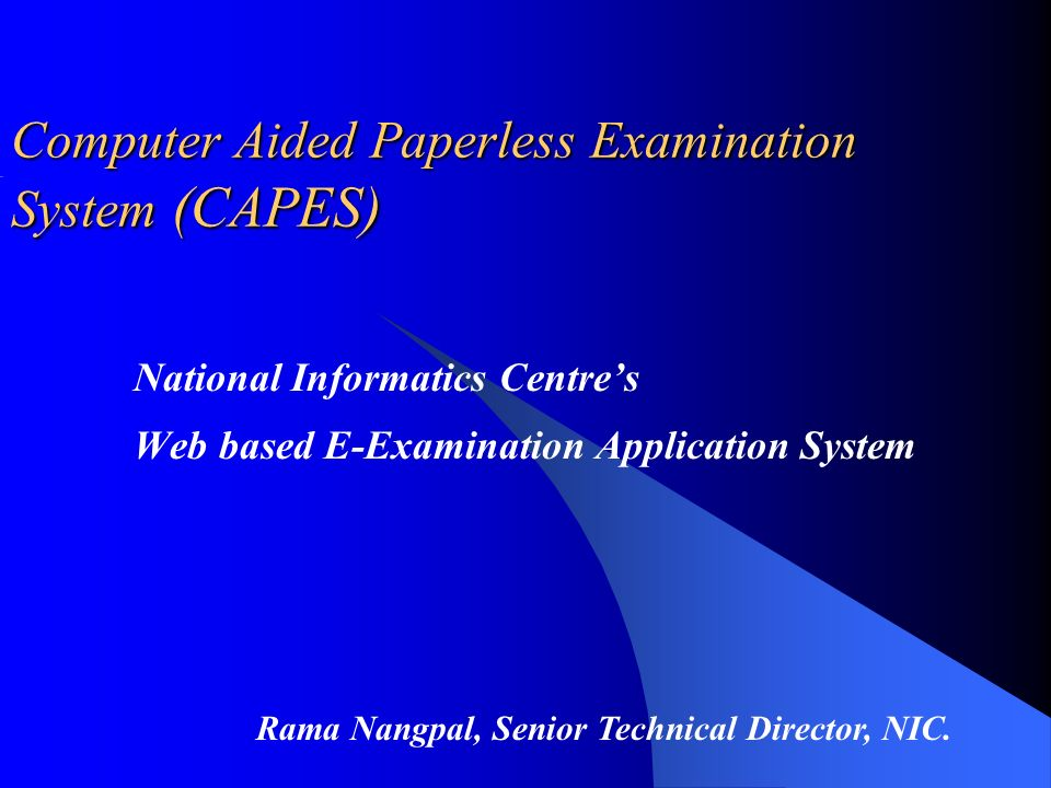 computer aided exam