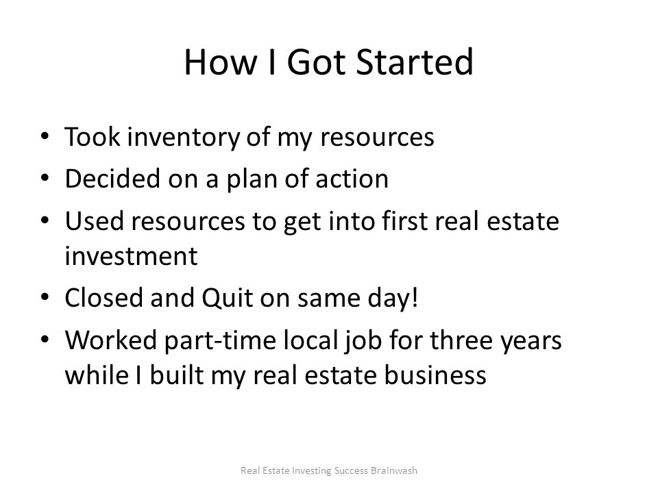 real estate investment plan
