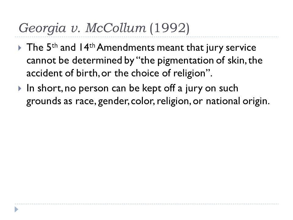 Georgia v. McCollum (1992)