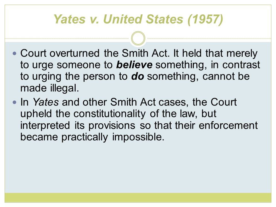 Yates v. United States (1957)