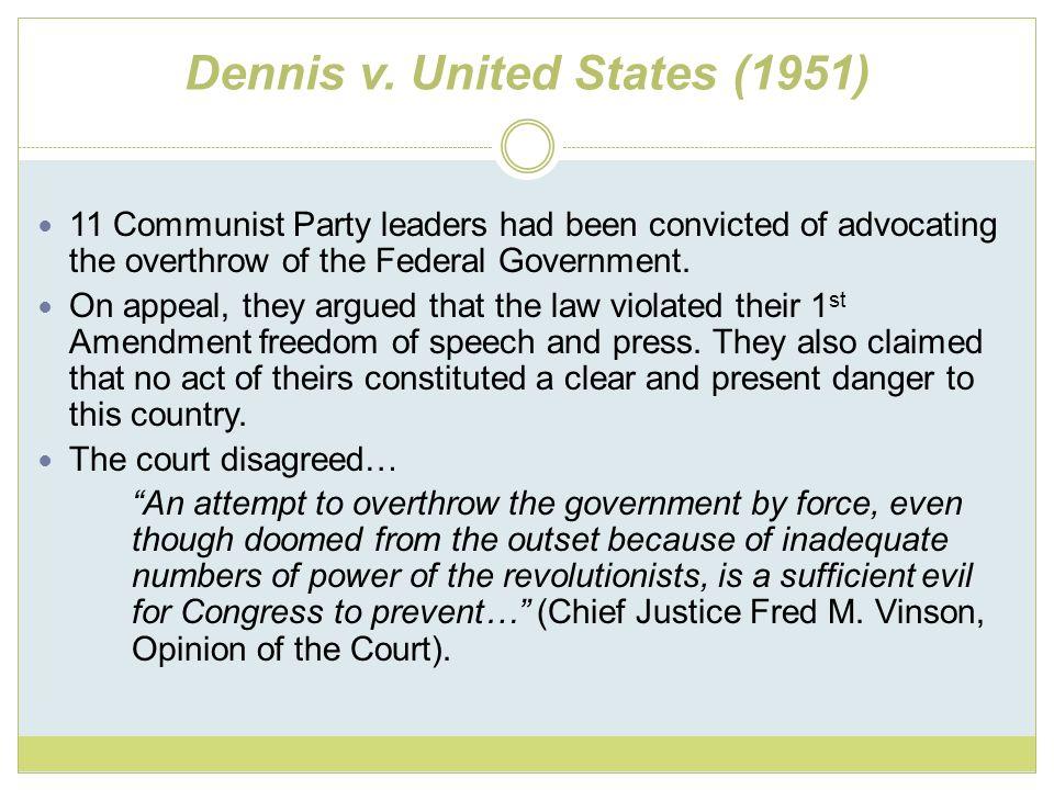 Dennis v. United States (1951)