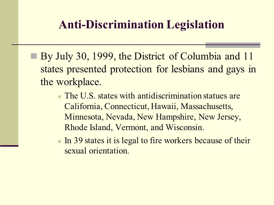 from Yosef discrimination on gays and lesbians