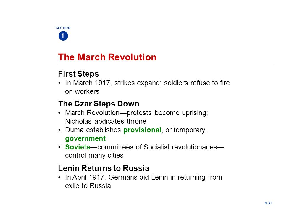 The March Revolution First Steps The Czar Steps Down