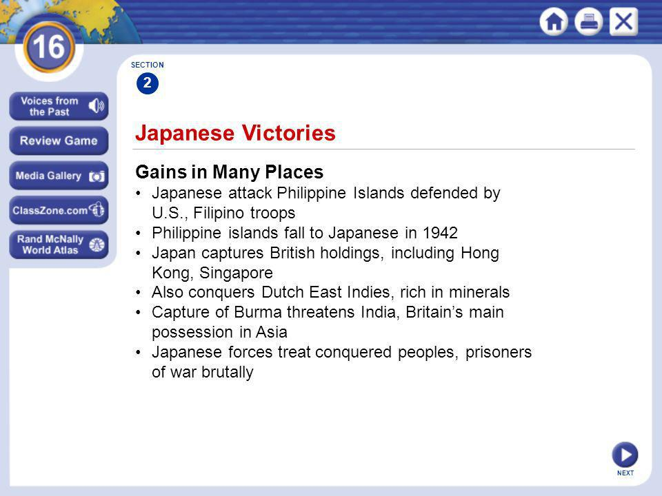 Japanese Victories Gains in Many Places