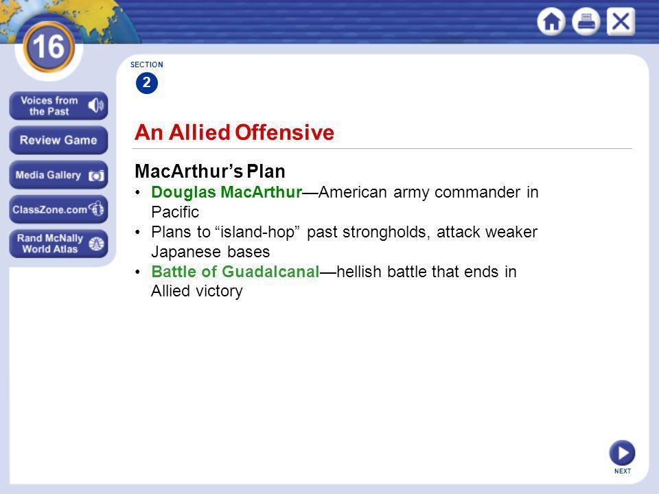 An Allied Offensive MacArthur's Plan
