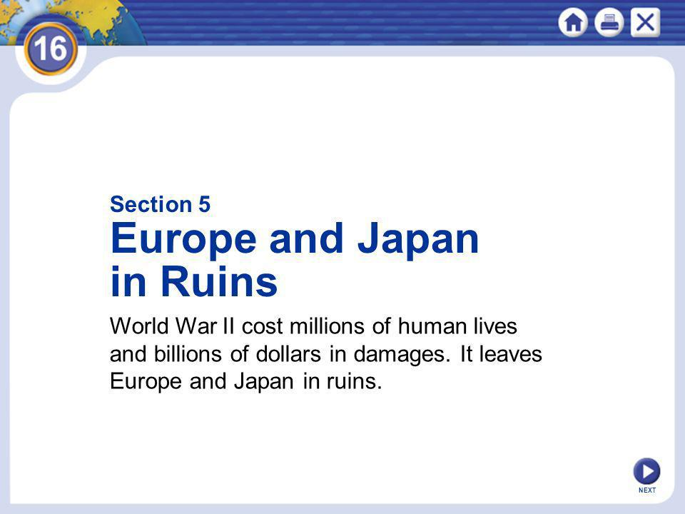 Europe and Japan in Ruins