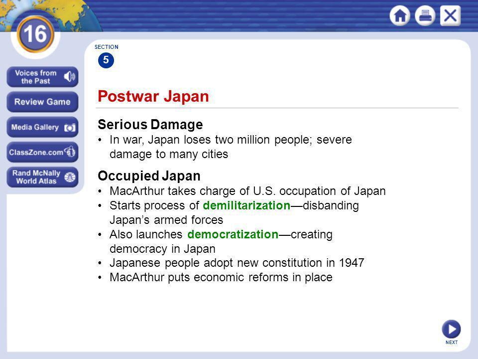 Postwar Japan Serious Damage Occupied Japan