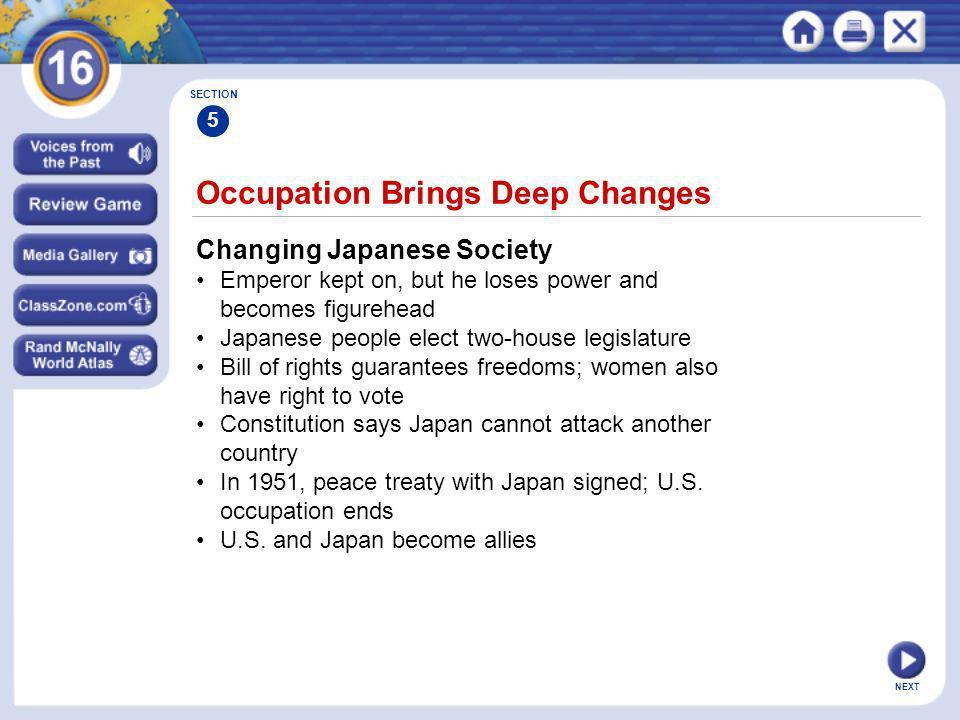 Occupation Brings Deep Changes