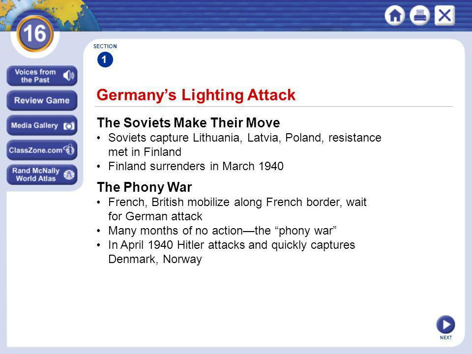 Germany's Lighting Attack