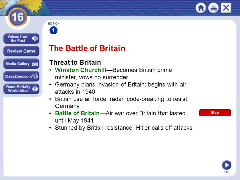 The Battle of Britain Threat to Britain