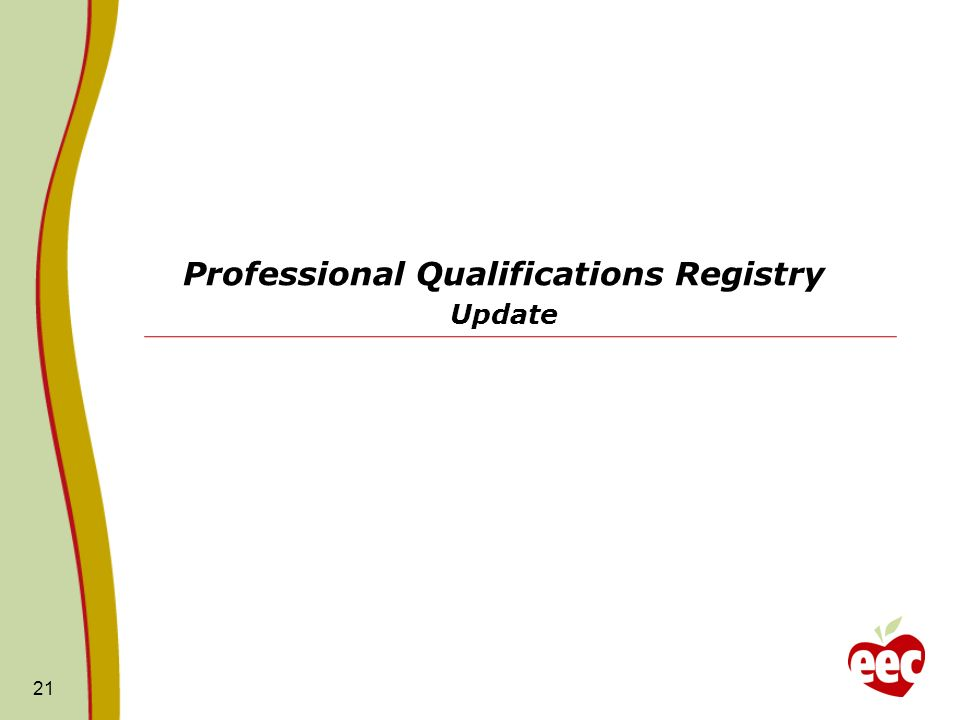 Professional Qualifications Registry