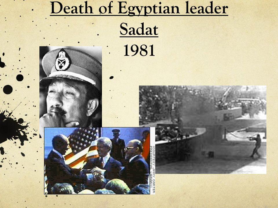 Death of Egyptian leader Sadat 1981